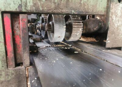 Schaafmachine van houthandel Verwée