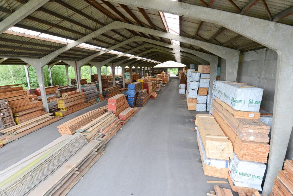 Magazijn houthandel Verwée